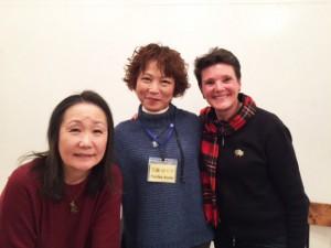 ローレン先生といつも通訳して下さる恵子先生と共に