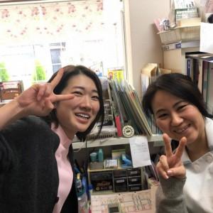 看護師の清田さんと副院長の水出先生