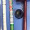 棒灸(もぐさを棒状にしたもの)とそれを固定する棒灸ヘルパー